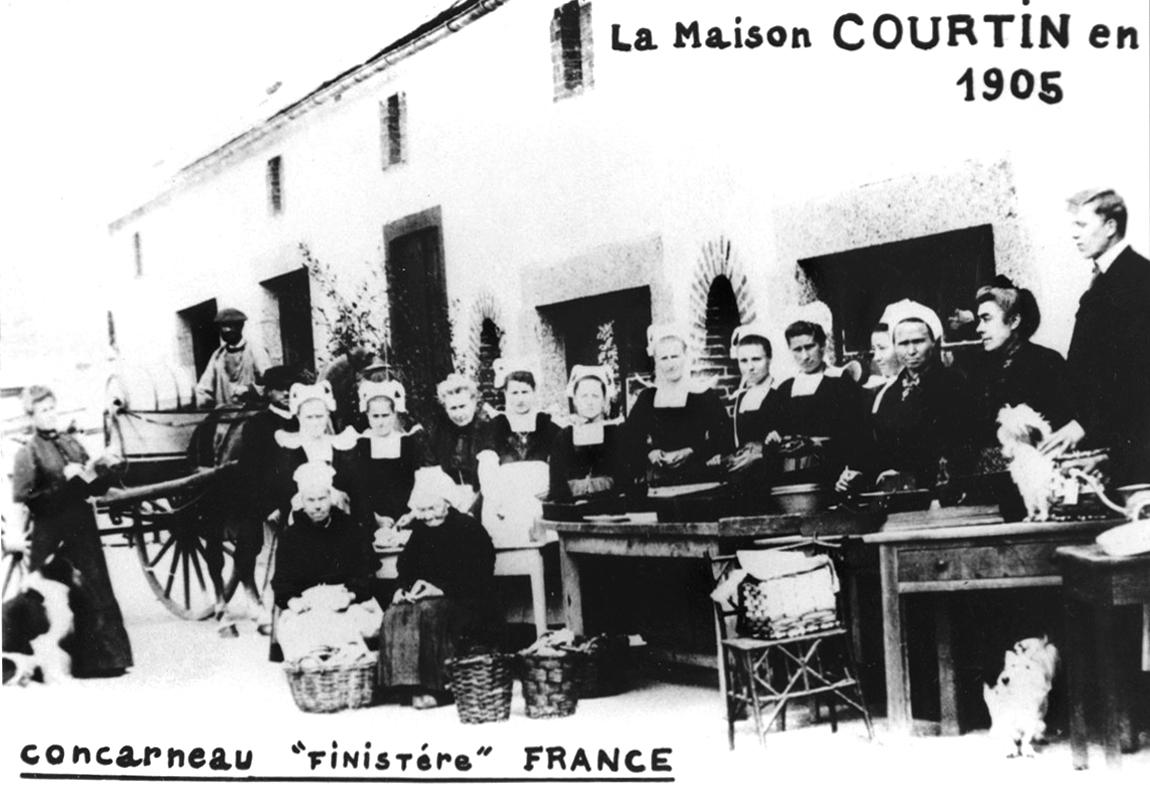 La Maison Courtin à Concarneau en 1905